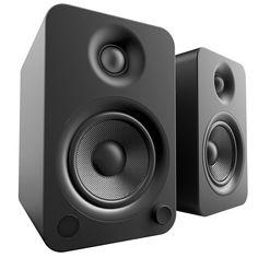 Shop Abt for the Kanto Powered Matte Black Bookshelf Speakers - Find the best Kanto bookshelf speakers and more at Abt. Desktop Speakers, Home Speakers, Bookshelf Speakers, Bluetooth Speakers, Best Speakers For Vinyl, Black Bookshelf, Bookshelves, Ac Dc, Crossover