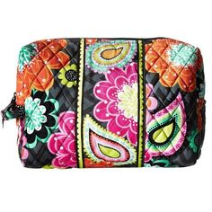 """Vera Bradley Large Cosmetic Bag Ziggy Zinnia NWT Vera Bradley Large Cosmetic Bag Ziggy Zinnia NWT Measures 10"""" x 6¼"""" x 3¼"""" Roomy design with grab and go side loop Finished with wide trim Durable plastic liner Fabric bag Vera Bradley Bags Cosmetic Bags & Cases"""