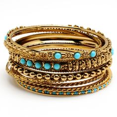 Seema Bangles ($75) ❤ liked on Polyvore featuring jewelry, bracelets, accessories, bangles, pulseras, amrita singh jewelry, bracelets & bangles, bracelet bangle, bangle bracelet and gold tone jewelry