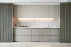 Modern Kitchen Interior Sky at One Central Park Penthouse Apartments, Sydney, 2013 - Koichi Takada Architects. Kitchen Dinning, New Kitchen, Kitchen Decor, Kitchen Themes, Kitchen Cupboard, Cupboard Doors, Country Kitchen, Kitchen Island, Küchen Design