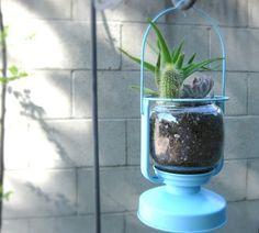 Old Lantern-Turned Planter!