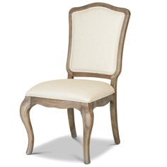 French Oak Ladder Back Upholstered Louis Dining Chair   Zin Home