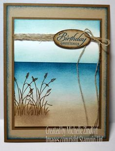Ocean Breeze Card created by Michelle Zindorf using the Stampin' Up! Wetlands Stamp Set