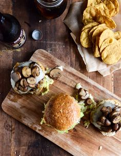 Crispy Autumn Veg Burgers with Apple Cider Slaw.... yes please!