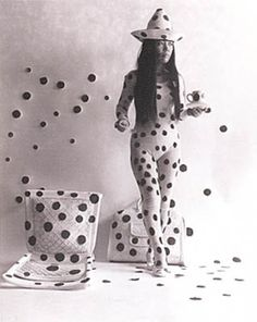 "Kusama. She was part of the ""happenings"" and body painting in the 1960's."