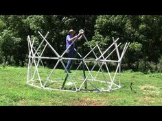 How to Build a Silo Dome - Geodesic Dome by Zip Tie Domes