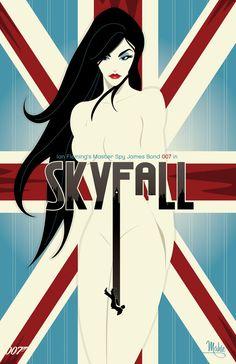 Les affiches des films sur  007 par l'artiste Mike Mahle