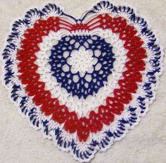 Items similar to patriotic crocheted doily original design on Etsy