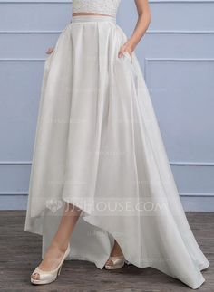 [US$ 62.99] Separates Asymmetrical Taffeta Wedding Skirt (002110493)