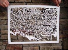 hand cut city maps