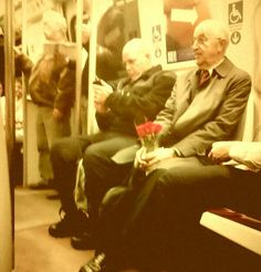 This elderly man has been married 47 years and taked the subway every Monday to buy his wife flowers.
