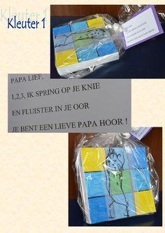 De werkjes voor vaderdag van de kleuters van de sg Heule-Kuurne