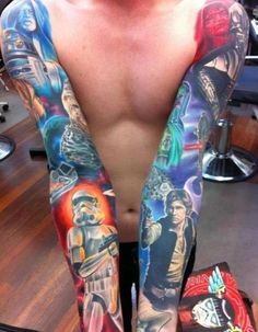 It's lovely art like this that make me want a Star Wars tattoo even more! Gah!