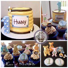 Winnie the Pooh Smash Cake and Cupcakes