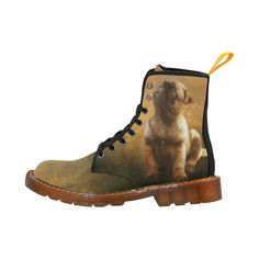 new at @artsadd  : #Cute #painting #pug #puppy Martin #Boots For #Women Model 1203H