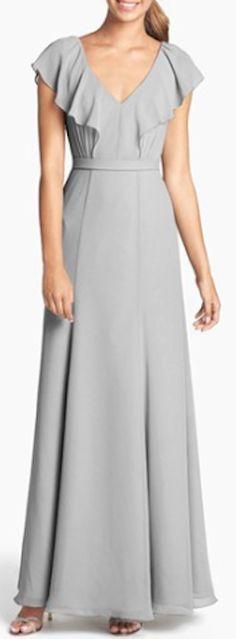 ruffled chiffon long dress http://rstyle.me/n/nfsmnpdpe