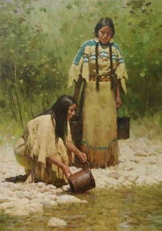 Image result for paintings of native american women
