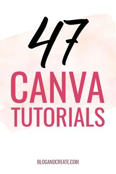Canva tutorials, tips, and tricks for bloggers. Canva is a graphic design website and iPhone app that makes design simple. Non-designers can easily create professional looking graphics. Learn how to create graphics with Canva for social media, blog posts, and YouTube video banners. #BlogAndCreate #canva #bloggingforbeginners #girlboss #socialmediamarketing