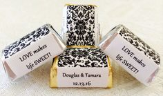 120 Black and White DAMASK PATTERN by PartyFavorsGalore on Etsy