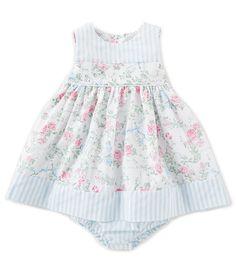 950e102fd35c Edgehill Collection Baby Girls 3-24 Months Floral Stripe A-Line Dress