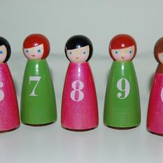 PAINTABLES DIY wooden peg people dolls by myfriendamy on Etsy