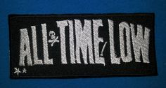 ALL TIME LOW AMERICAN POP PUNK BAND Embroidered Easy Iron On Patch Free/Ship
