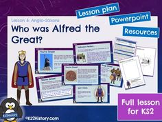 A full lesson for about King Alfred the Great, including a detailed lesson plan, Powerpoint and pupil resource sheets. Who was Alfred the Great? Primary History, Teaching History, Teaching Resources, Anglo Saxon Kings, Anglo Saxon History, Alfred The Great, Great King, S Stories, Challenges