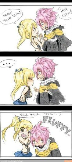 I wanna do that to Natsu's hair.. cx