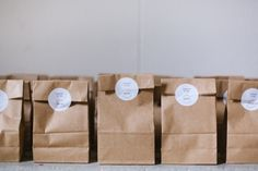 kraft paper confetti bags with stickers
