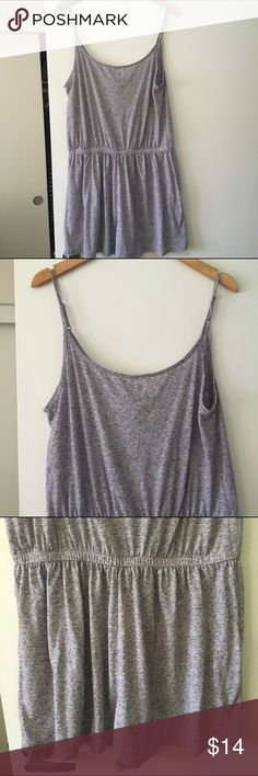Gray Romper Simple gray romper with thin straps and an elastic waist H&M Pants Jumpsuits & Rompers