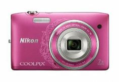 Nikon COOLPIX S3500 20.1 MP Digital Camera with 7x Zoom (Decorative Pink)   7x wide-angle NIKKOR glass lens 720p HD video recording Vibration Reduction helps keep shots steady