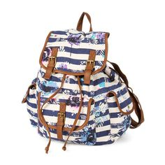 Stripes and Florals Backpack   Claire's  Beautiful backpack, must have this for my birthday