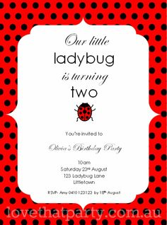 1000+ images about Ladybug Party on Pinterest | Ladybug ...