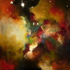 "Abstract Painting ""Torrid Sky"" by Jeffrey Bisaillon"