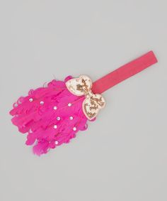 Take a look at this Hot Pink Butterfly Feather Headband on zulily today!