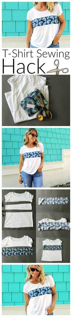 Upcycle T-shirt                                                                                                                                                                                 More #diytshirt