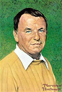 Frank Sinatra by Norman Rockwell. Not one of his best works, not enough detail, doesn't quite capture Sinatra...