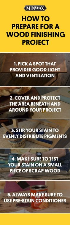 Is there a wood finishing project on your agenda? Make sure you take these steps to prepare. Click to see more tips for wood preparation, finishing and care.