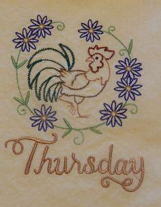 Thursday's Rooster by NooksAndGrannys on Etsy