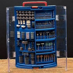 Rotary Carving Tools, Rotary Carving Blades: 265 Piece Rotary Accessory Kit - Home & DIY Dremel Bits, Dremel Drill, Dremel Rotary Tool, Dremel Wood Carving, Carving Tools, Dremel Tool Projects, Dremel Ideas, Dremel Accessories, Woodworking Power Tools