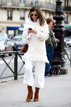 A Fresh Way to Wear an Off-The-Shoulder Sweater