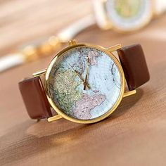 Stan vintage watches — World Map Wrist watch Mens wristwatches Unisex watch Wo… Stan Vintage Uhren – Weltkarte Armbanduhr Herrenarmbanduhren … Simple Watches, Cute Watches, Retro Watches, Vintage Watches, Watches For Men, Wrist Watches, Woman Watches, Casual Watches, Map Watch