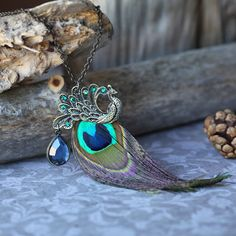 Peacock feather chain :)