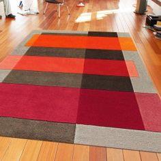 Tapis de Salon Intersection Orange et Taupe par Arte Espina