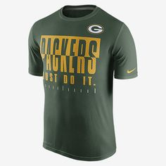 REPRESENT YOUR TEAM The Nike Legend Just Do It (NFL Packers) Men's T-Shirt honors your favorite team with bold print on lightweight, breathable Dri-FIT fabric. Product Details Dri-FIT fabric helps keep you dry and comfortable Fabric: Dri-FIT 100% polyester Machine wash Imported