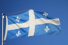 French-Canadian heritage flag. This shows how multi cultural Canada is.
