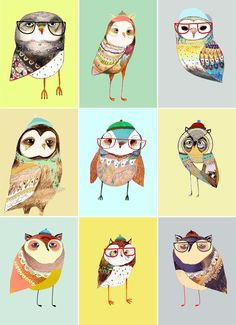 this would be an easy craft project with kids. Draw the basic owl and let them color & cut out fabric to customize their owl
