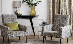 Romo Wallcoverings Collection at Home & Contract Design. Romo Wallpaper, Fabric Wallpaper, Family Room Curtains, Drapes Curtains, Romo Fabrics, Chatsworth House, Contract Design, Made To Measure Curtains, Fabric Houses