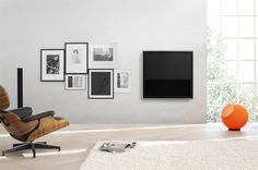 Bang & Olufsen. Their incredibly slim BeoVision 10 Television is simply stunning.