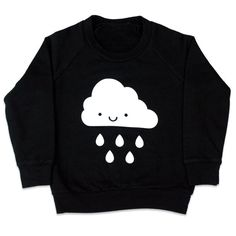 Kids Kawaii Cloud Raglan Sweatshirt by WhistleFlute on Etsy, $35.00
